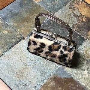 Mini purse animal print lipstick or coin holder